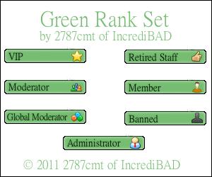 Green Rank Set Preview